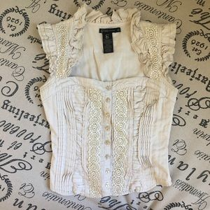 Grass Collection Corset Style Top - Antique